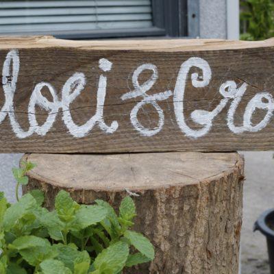 Bloei & Groei - houten bord